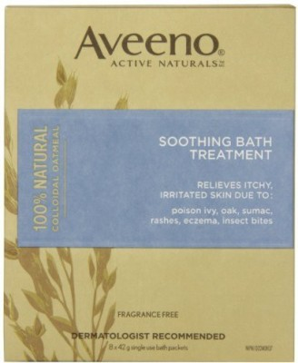 Aveeno Soothing Bath Treatment, Fragrance Free, 8 packets(42 g)
