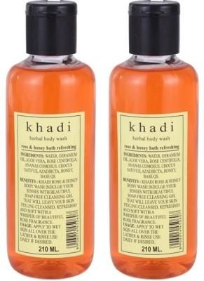 khadi Natural Rose & Honey Bath Refreshing Herbal Body Wash