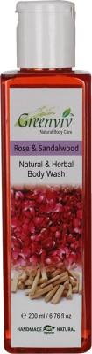 Greenviv Natural Rose & Sandalwood Body Wash
