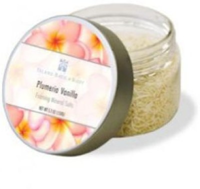 Welcome to the Islands Island Body Plumeria Vanilla Foaming Mineral Salt Jar