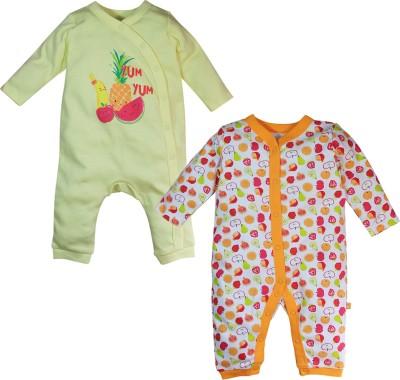 FS Mini Klub Baby Girl's Yellow Sleepsuit