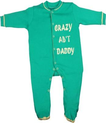 Gkidz Baby Boy's Green Sleepsuit