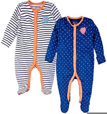 Mom & Me Baby Girl,s Multicolor Sleepsuit