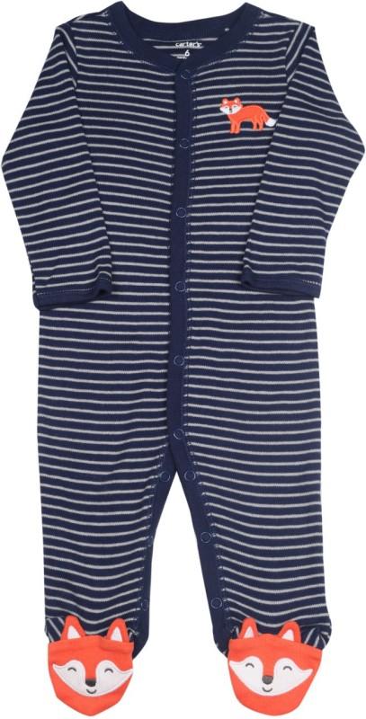 Carter's Baby Boys White, Dark Blue Bodysuit