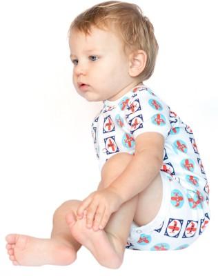 BACHHA ESSENTIAL Baby Boy's Red, Blue Aeroplanes Bodysuit