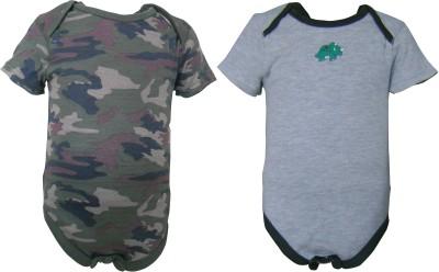 Teddy's choice Baby Boy's Green, Grey Bodysuit