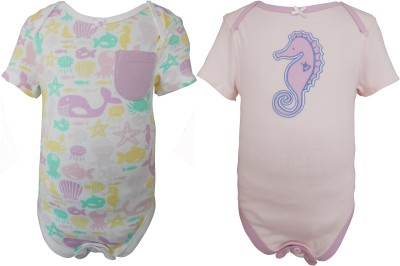 teddys choice Baby Girls Pink Bodysuit