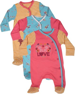 Mothercare Baby Girl's Baby Girl's Blue, Orange, Pink Bodysuit