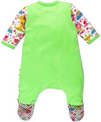 Warner Brothers Baby Girl's Lime Green Sleepsuit