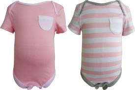 Teddy's Choice Baby Boys Pink Bodysuit