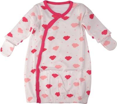 Bio Kid Easy Change Full Baby Girl's Pink, White Bodysuit