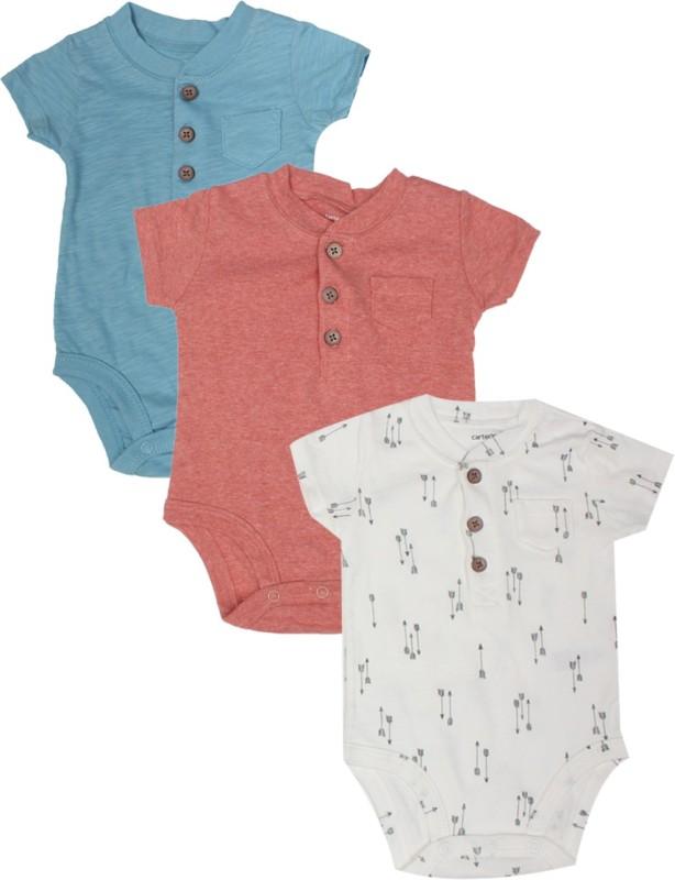 Carter's Baby Boys White, Grey, Blue, Orange Bodysuit