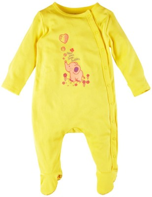 Mom & Me Baby Girl's Yellow Sleepsuit