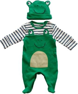 Sonpra Baby Boys, Baby Girls Green Sleepsuit