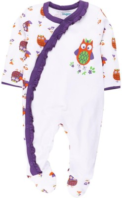 Snuggles Baby Girl's White Sleepsuit