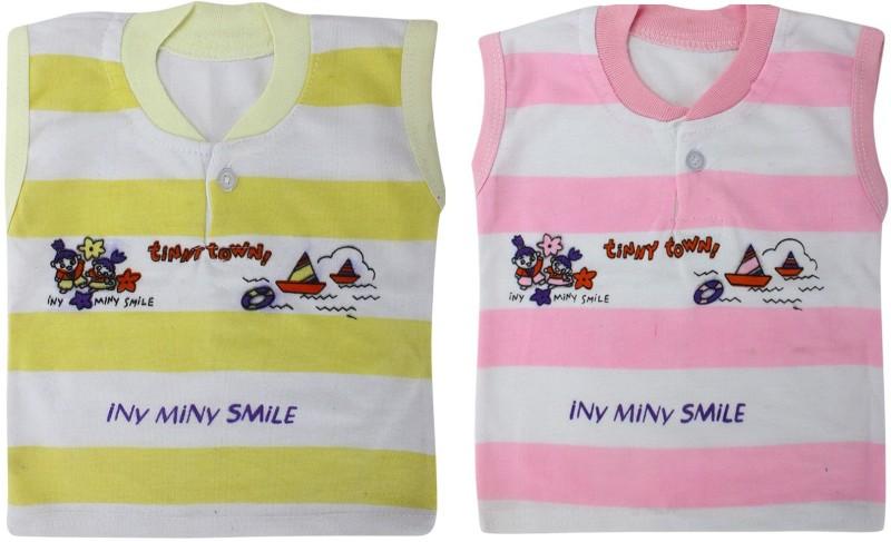 ZACHARIAS Baby Boys Yellow, Pink Bodysuit