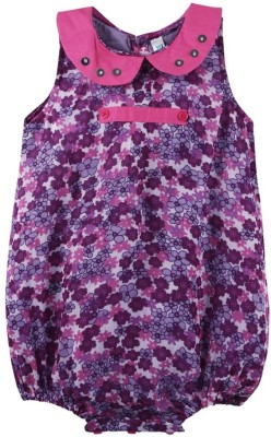 Snuggles Baby Girl's Purple Bodysuit