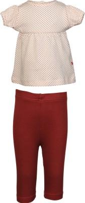 Nino Bambino Baby Girl's Pink, Brown Sleepsuit