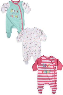 Mothercare Baby Girl's Baby Girl's White, Green, Pink Bodysuit