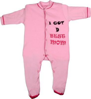 Gkidz Baby Boy's Pink Sleepsuit