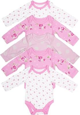 Babysafe Baby Girl,s Multicolor Bodysuit