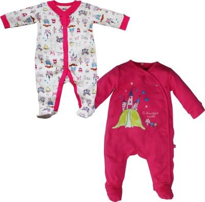 FS Mini Klub Baby Girls Multicolor Sleepsuit