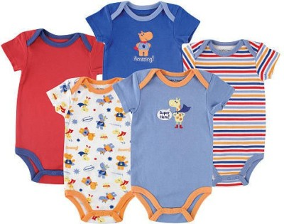 Luvable Friends Baby Boy's Multicolor Bodysuit
