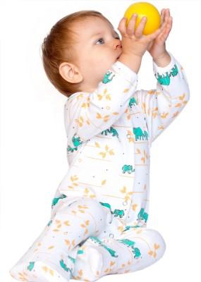 BACHHA ESSENTIAL Baby Boy's Blue Elephant Bodysuit