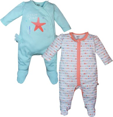 FS Mini Klub Baby Girl's Multicolor Sleepsuit