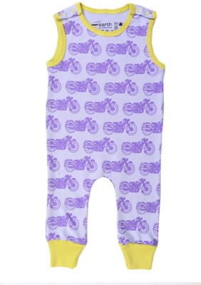 Earth Conscious Baby Girls Purple Sleepsuit
