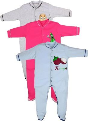 Gkidz Baby Girl's Grey Sleepsuit