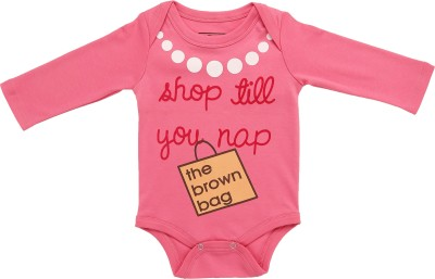 LIL PENGUIN Baby Girls Pink Bodysuit