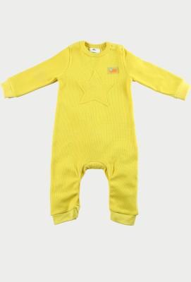 Cherry Crumble California Baby Boy's Yellow Bodysuit