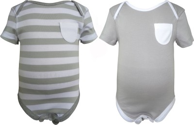 Teddy's Choice Baby Boy's Grey Bodysuit