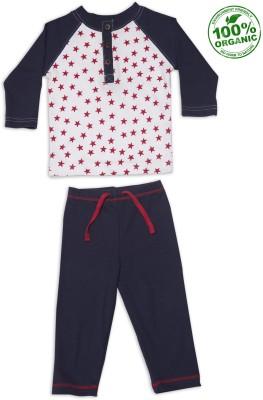 Nino Bambino Baby Boy's Blue, Red Sleepsuit