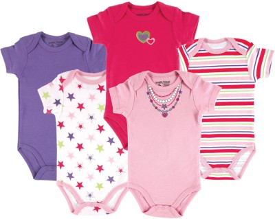 Luvable Friends Baby Girl's Pink, Purple Bodysuit