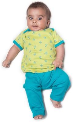 Nino Bambino Baby Boy's Green, Blue Sleepsuit