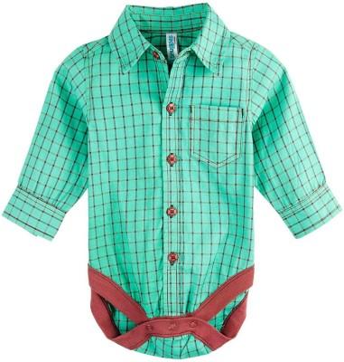 Snuggles Baby Boy's Green Bodysuit