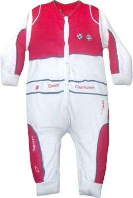 Instyle Baby Boy's Red, White Bodysuit