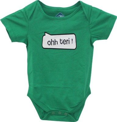 Blue Bus Store SLOGAN T-SHIRTS Baby Boy,s Green Bodysuit