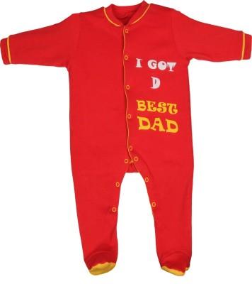 Gkidz Baby Boy's Red Sleepsuit