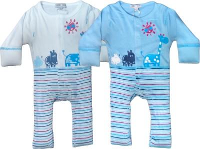 Instyle Baby Boy's White, Blue Bodysuit
