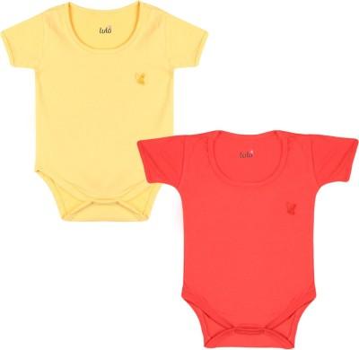 Lula Baby Girl's Red, Yellow Bodysuit