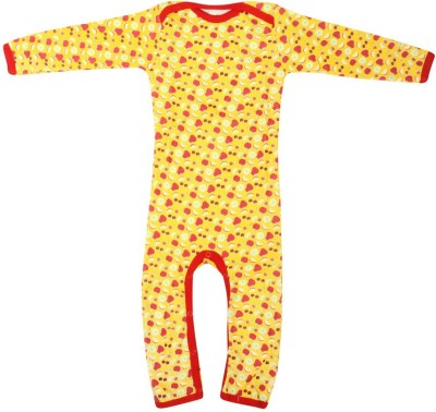 Earth Conscious Baby Girl's Yellow Bodysuit