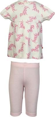 Nino Bambino Baby Girl's Pink, Natural Sleepsuit