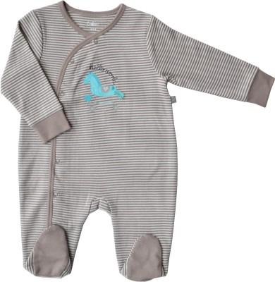 Babeez World Baby Boy's Brown Sleepsuit