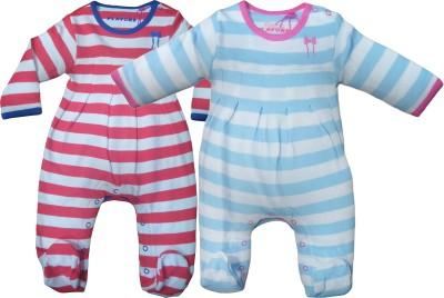 Instyle Baby Boy's Blue, Orange Bodysuit