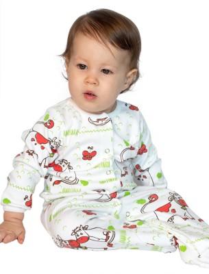 BACHHA ESSENTIAL Baby Boy's Red Cows Bodysuit