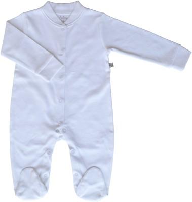 Babeez World Sleeper/Romper with Booties Baby Boy's White Sleepsuit