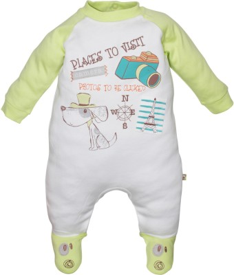 FS Mini Klub Baby Boy's White Sleepsuit